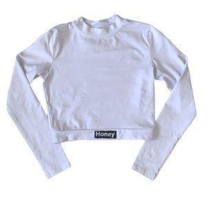 Honey Long Sleeve Crop Top